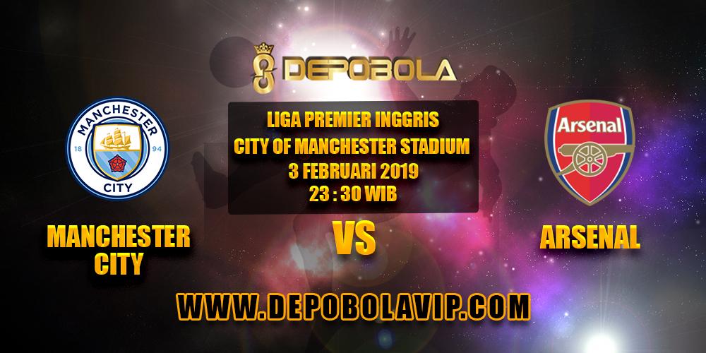 Prediksi Bola Manchester City vs Arsenal 03 Februari 2019