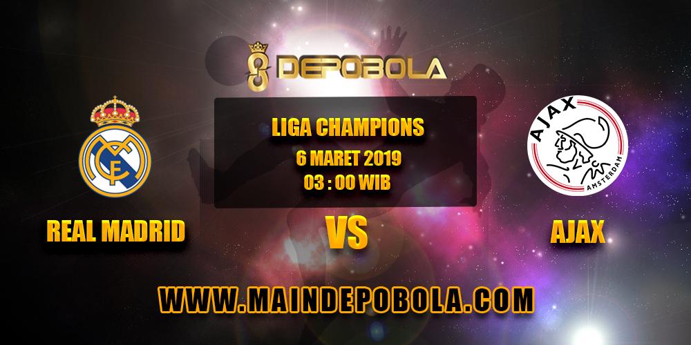 Prediksi Bola Real Madrid vs Ajax 6 Maret 2019