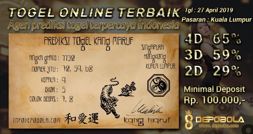 Prediksi Togel Kuala Lumpur Sabtu 27 April 2019