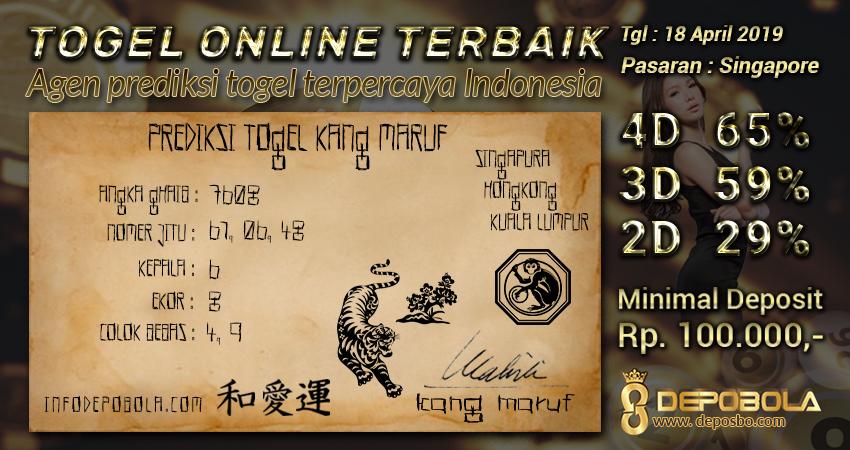 Prediksi Togel Singapore Kamis 18 April 2019