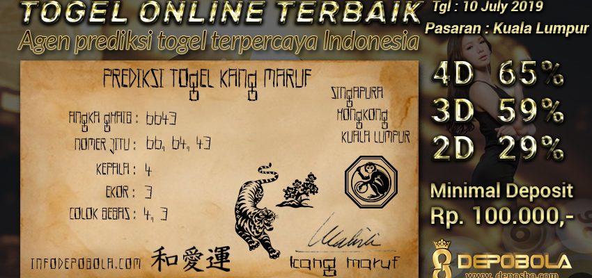 Prediksi Togel Kuala Lumpur Rabu 10 July 2019